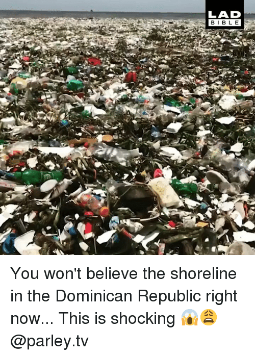 Memes, Dominican, and 🤖: LAD You won't believe the shoreline in the Dominican Republic right now... This is shocking 😱😩 @parley.tv