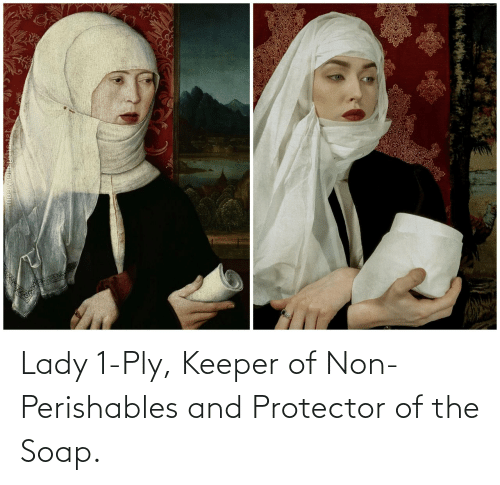 Non: Lady 1-Ply, Keeper of Non-Perishables and Protector of the Soap.