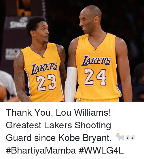 lou williams: LAKERS  LAKERS  24 Thank You, Lou Williams!  Greatest Lakers Shooting Guard since Kobe Bryant. 🐐👀  #BhartiyaMamba #WWLG4L