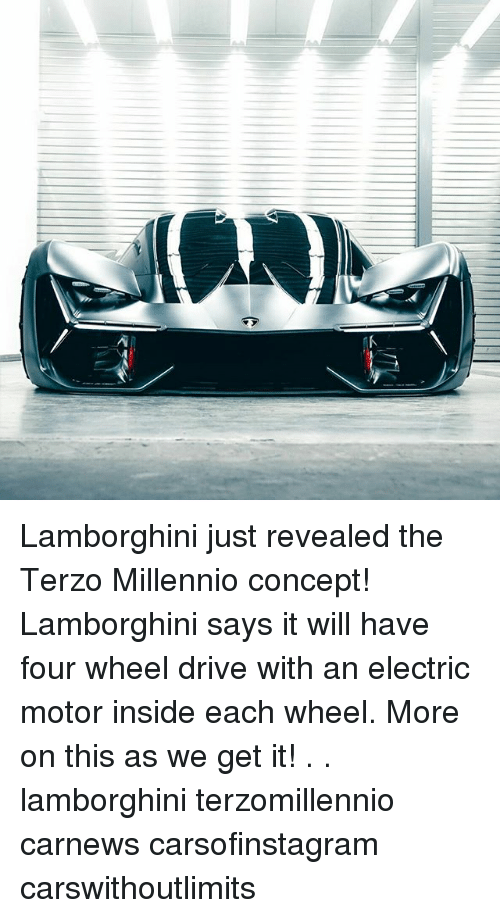 Lamborghini Just Revealed The Terzo Millennio Concept Lamborghini
