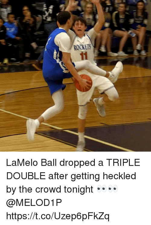 Memes, 🤖, and Double: LaMelo Ball dropped a TRIPLE DOUBLE after getting heckled by the crowd tonight 👀👀 @MELOD1P https://t.co/Uzep6pFkZq