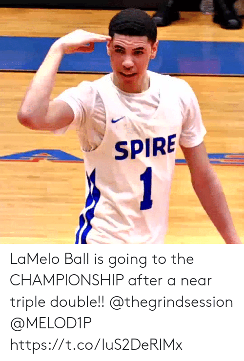 Memes, 🤖, and Double: LaMelo Ball is going to the CHAMPIONSHIP after a near triple double!! @thegrindsession @MELOD1P https://t.co/luS2DeRlMx