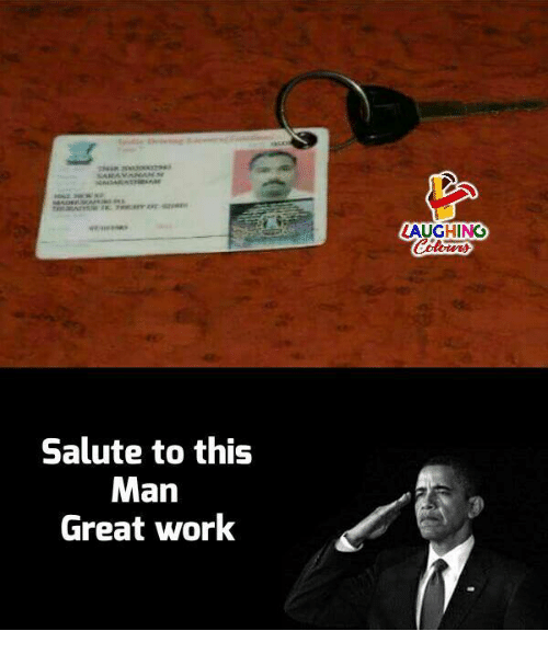 Work, Indianpeoplefacebook, and Man: LAUGHING  Salute to this  Man  Great work