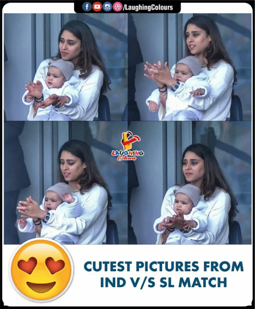 Match, Pictures, and Indianpeoplefacebook: /LaughingColours  fD  LAUGHING  CAleurs  CUTEST PICTURES FROM  IND V/S SL MATCH