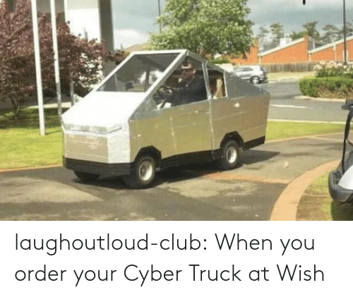 Wish: laughoutloud-club:  When you order your Cyber Truck at Wish