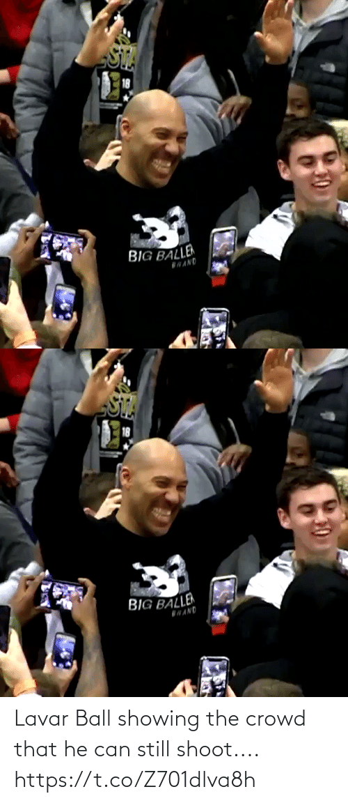 That He: Lavar Ball showing the crowd that he can still shoot.... https://t.co/Z701dlva8h