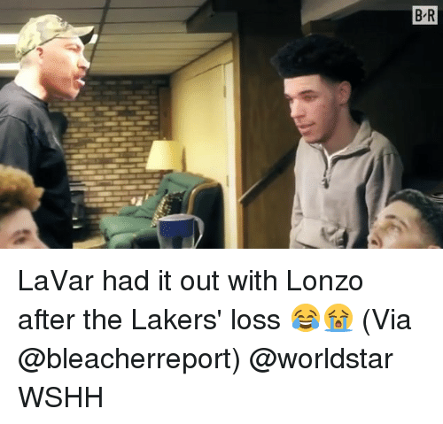 Los Angeles Lakers, Memes, and Worldstar: LaVar had it out with Lonzo after the Lakers' loss 😂😭 (Via @bleacherreport) @worldstar WSHH