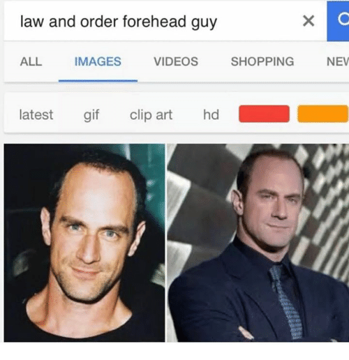 Shopping, Videos, and Images: law and order forehead guy  ALL  IMAGES  VIDEOS SHOPPING N  NEV  latest gi clip art hd