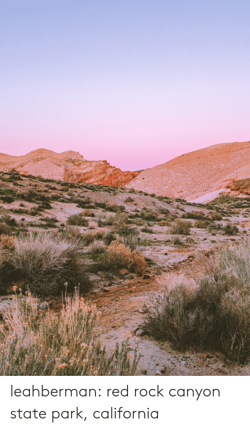 Tumblr, Blog, and California: leahberman:  red rock canyon state park, california