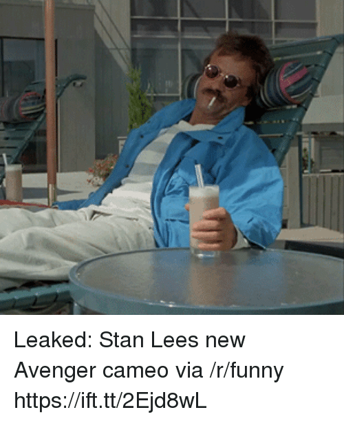 Funny, Stan, and Stan Lee: Leaked: Stan Lees new Avenger cameo via /r/funny https://ift.tt/2Ejd8wL