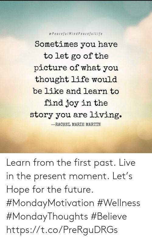 The First: Learn from the first past. Live in the present moment. Let's Hope for the future.  #MondayMotivation #Wellness  #MondayThoughts #Believe https://t.co/PreRguDRGs