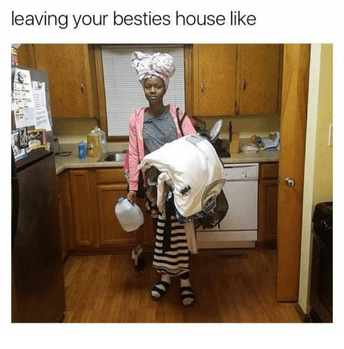 Memes, House, and 🤖: leaving your besties house like