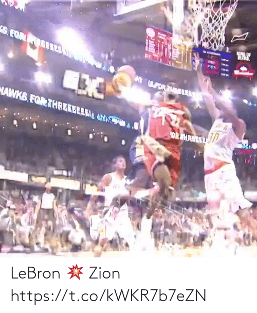 Lebron: LeBron 💥 Zion https://t.co/kWKR7b7eZN