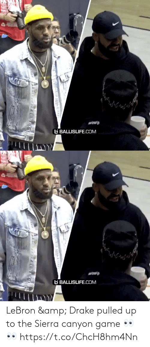 Lebron: LeBron & Drake pulled up to the Sierra canyon game 👀👀 https://t.co/ChcH8hm4Nn