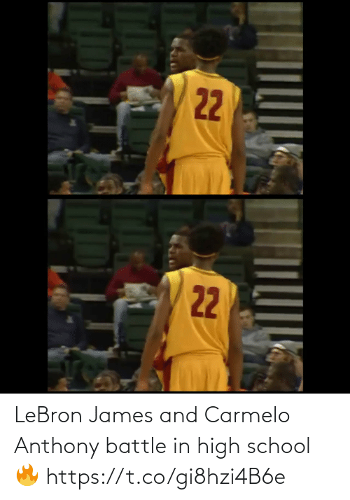 School: LeBron James and Carmelo Anthony battle in high school🔥 https://t.co/gi8hzi4B6e