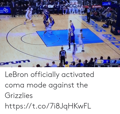 Memphis Grizzlies: LeBron officially activated coma mode against the Grizzlies https://t.co/7i8JqHKwFL