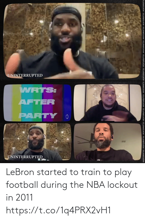 Train: LeBron started to train to play football during the NBA lockout in 2011 https://t.co/1q4PRX2vH1
