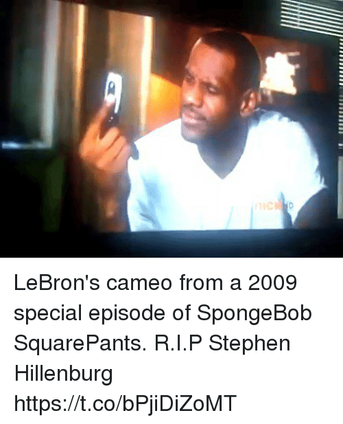 Sizzle: LeBron's cameo from a 2009 special episode of SpongeBob SquarePants. R.I.P Stephen Hillenburg https://t.co/bPjiDiZoMT