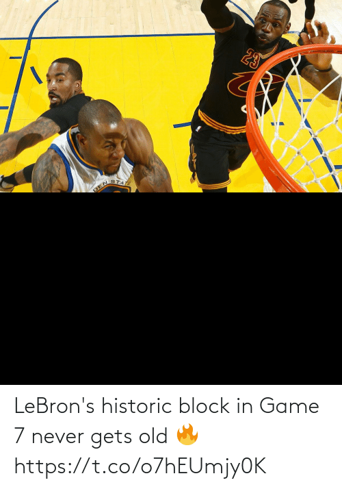 Game: LeBron's historic block in Game 7 never gets old 🔥 https://t.co/o7hEUmjy0K