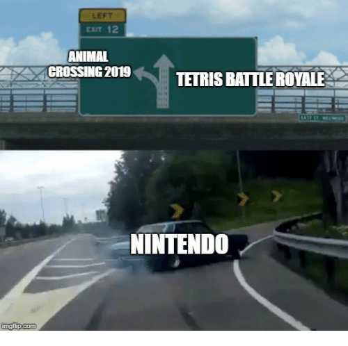 Nintendo, Animal, and Animal Crossing: LEFT  CxIT 12  ANIMAL  CROSSING 2019TETRIS BATTLE ROYALE  NINTENDO
