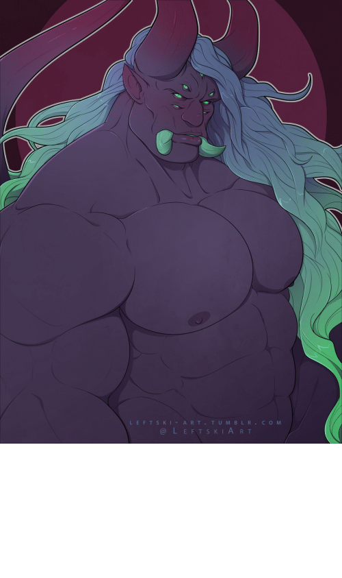 Colour: leftski-art:  Used a randomly generated colour palette and ended up with a synthwave demon I guess?