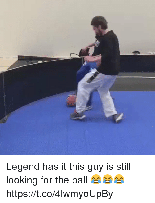 Soccer, Legend, and Looking: Legend has it this guy is still looking for the ball 😂😂😂 https://t.co/4lwmyoUpBy