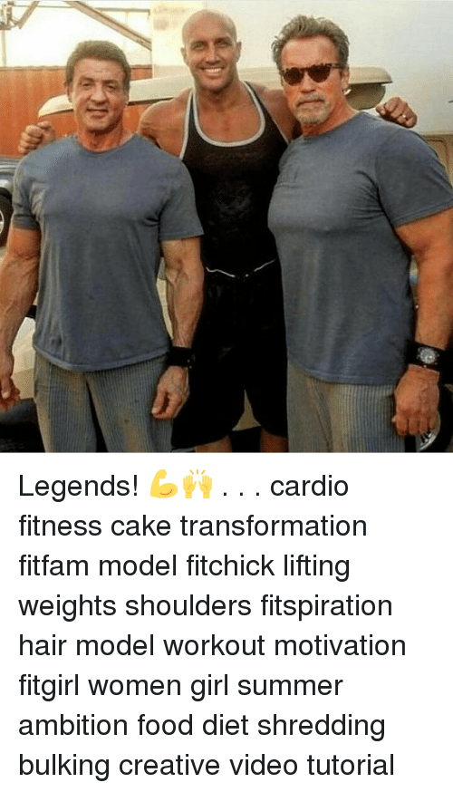 Creativer: Legends! 💪🙌 . . . cardio fitness cake transformation fitfam model fitchick lifting weights shoulders fitspiration hair model workout motivation fitgirl women girl summer ambition food diet shredding bulking creative video tutorial