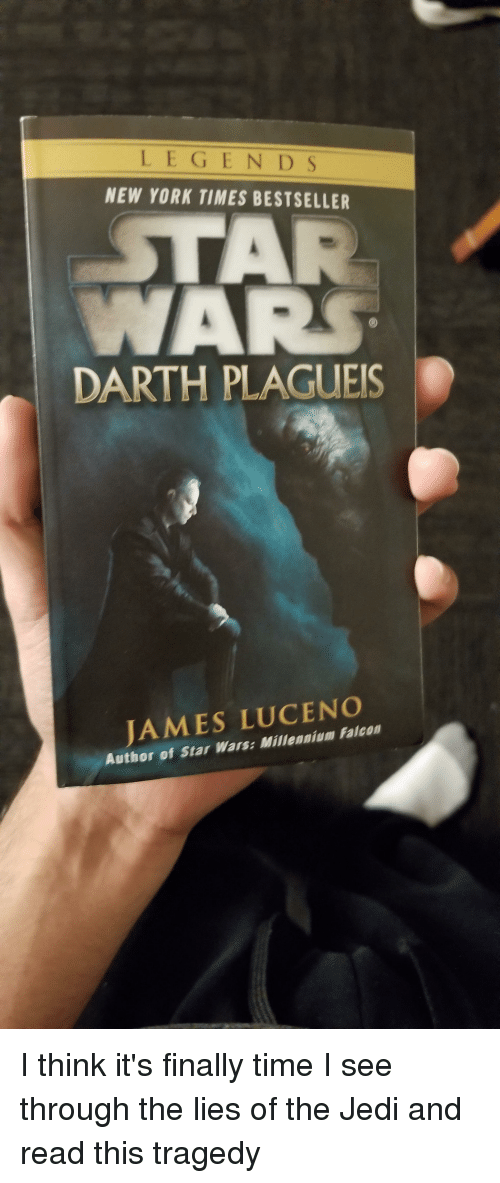 Legends New York Times Bestseller Darth Plagues James Luceno