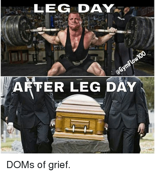 Day After Leg Day: LEGG DAY  AFTER LEG DAY DOMs of grief.