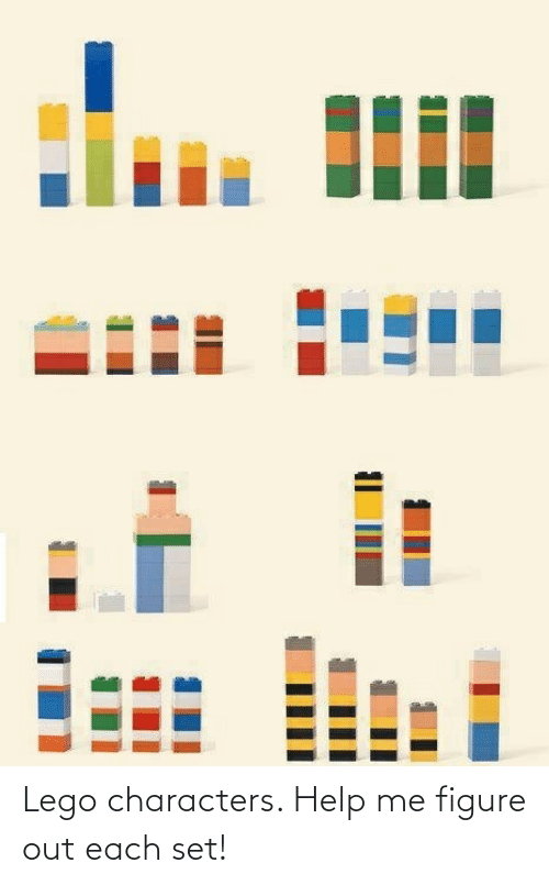 figure out: Lego characters. Help me figure out each set!