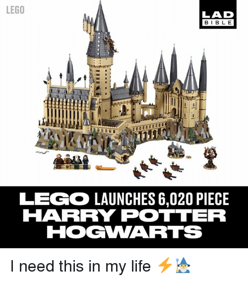 Dank, Harry Potter, and Lego: LEGO  LAD  BIBL E  LEGO LAUNCHES 6,020 PIECE  HARRY POTTER I need this in my life ⚡️🧙