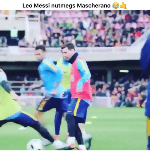 Memes, Messi, and 🤖: Leo Messi nutmegs Mascherano