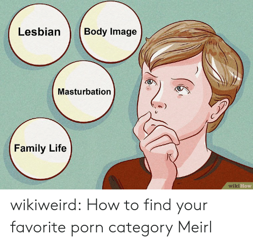 Family, Life, and Tumblr: Lesbian  Body Image  Masturbation  Family Life  wiki How wikiweird:  How to find your favorite porn category  Meirl