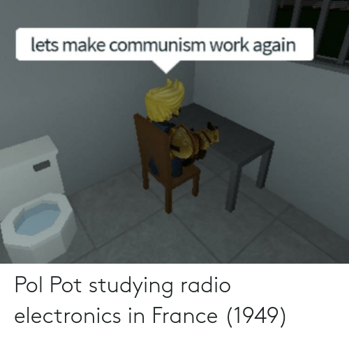 Pol Pot: lets make communism work again Pol Pot studying radio electronics in France (1949)