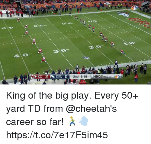 Memes, 🤖, and King: LEVATION  ER King of the big play.  Every 50+ yard TD from @cheetah's career so far! 🏃‍♂️💨 https://t.co/7e17F5im45
