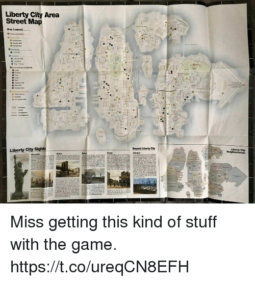Club, The Game, and Game: Liberty City Area  Street Map  Comedy Club  oa  Liberty City Miss getting this kind of stuff with the game. https://t.co/ureqCN8EFH
