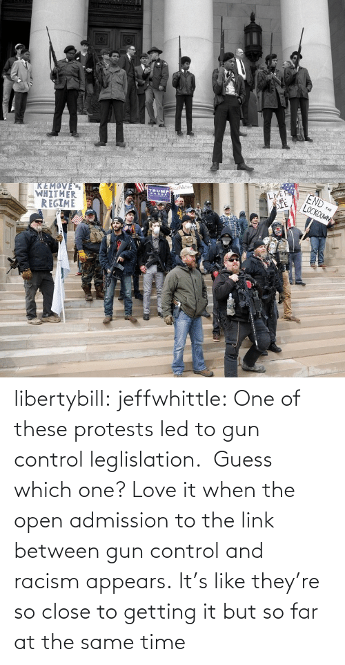 When The: libertybill:  jeffwhittle:  One of these protests led to gun control leglislation.  Guess which one?   Love it when the open admission to the link between gun control and racism appears.   It's like they're so close to getting it but so far at the same time