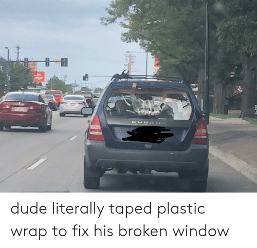 Dude, Facepalm, and Plastic: lic dude literally taped plastic wrap to fix his broken window