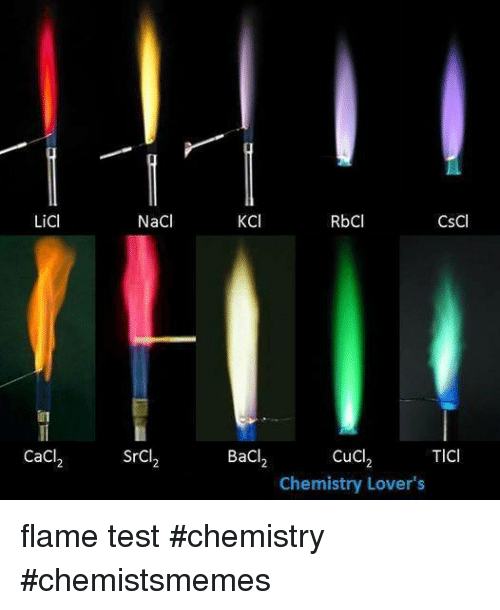 flame test experiment