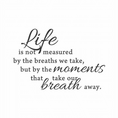 Life, Breath, and Away: Life  is not 7 measured  by the breaths  but by the moments  that  take,  we  take our  Breath  away