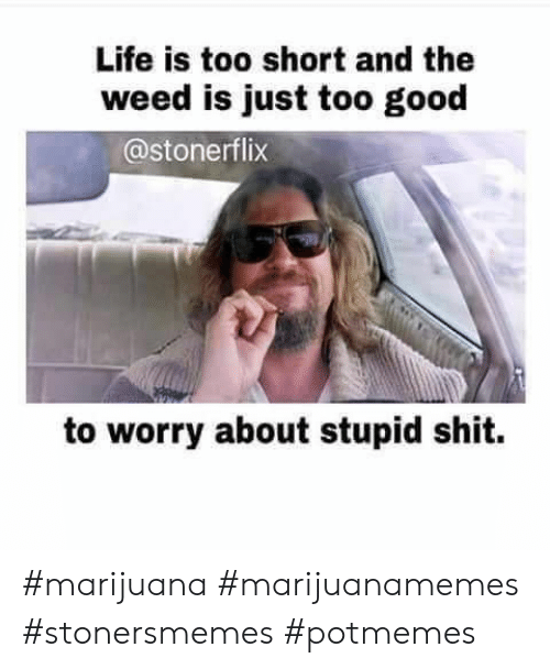 Life, Shit, and Weed: Life is too short and the  weed is just too good  @stonerflix  to worry about stupid shit. #marijuana #marijuanamemes #stonersmemes #potmemes