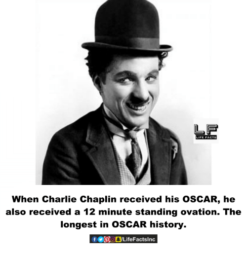 Charlie, Life, and Memes: LIFE PACTS  When Charlie Chaplin received his oSCAR, he  also received a 12 minute standing ovation. The  longest in osCAR history