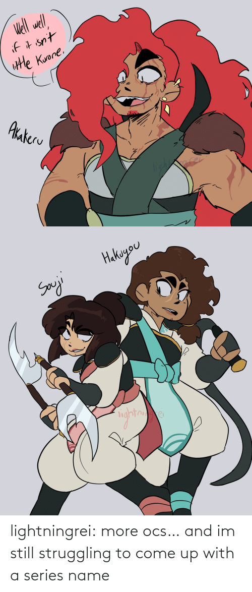 Come Up: lightningrei:  more ocs… and im still struggling to come up with a series name
