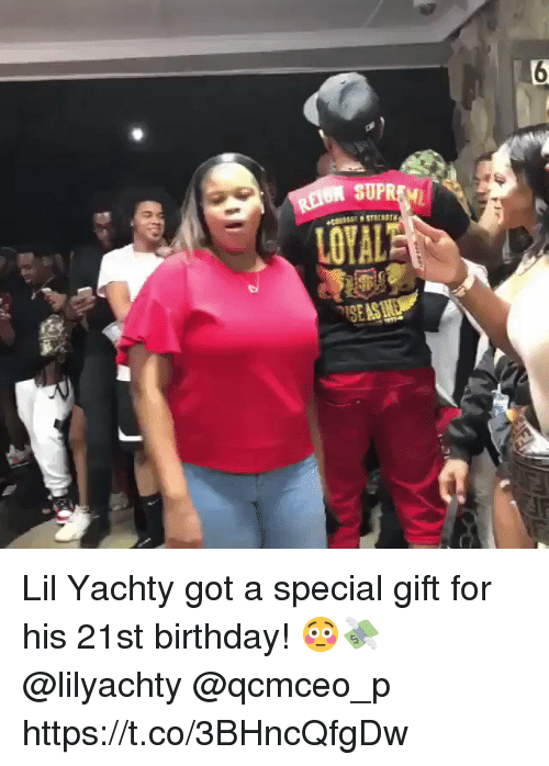 Yachty: Lil Yachty got a special gift for his 21st birthday! 😳💸 @lilyachty @qcmceo_p https://t.co/3BHncQfgDw