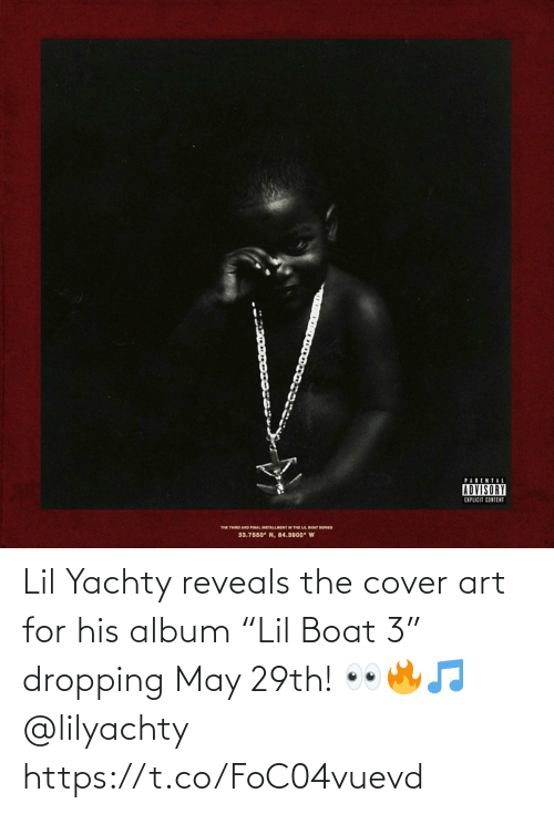"""Lil Yachty: Lil Yachty reveals the cover art for his album """"Lil Boat 3"""" dropping May 29th! 👀🔥🎵 @lilyachty https://t.co/FoC04vuevd"""