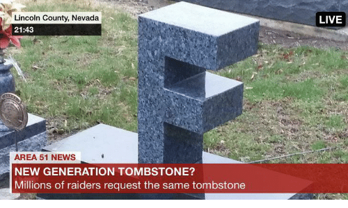 News, Lincoln, and Live: Lincoln County, Nevada  LIVE  21:43  AREA 51 NEWS  NEW GENERATION TOMBSTONE?  Millions of raiders request the same tombstone