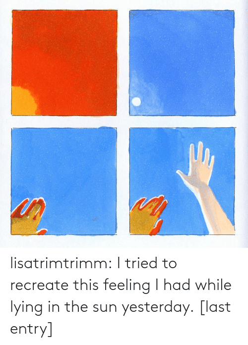 Lying: lisatrimtrimm: I tried to recreate this feeling I had while lying in the sun yesterday. [last entry]