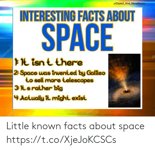 Space: Little known facts about space https://t.co/XjeJoKCSCs