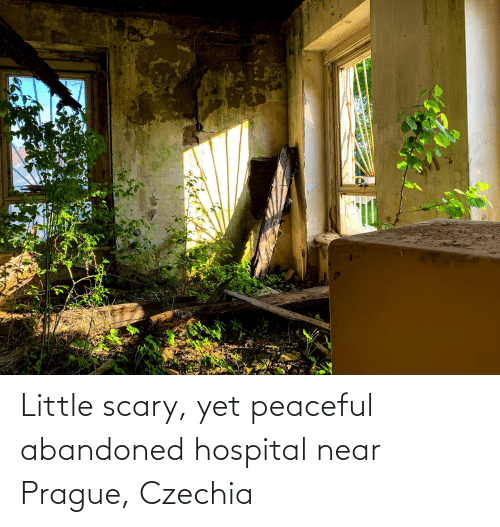 Prague: Little scary, yet peaceful abandoned hospital near Prague, Czechia