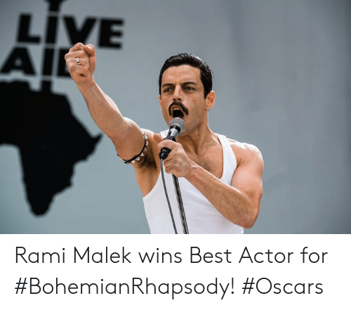 Memes, Oscars, and Best: LIVE  AI Rami Malek wins Best Actor for #BohemianRhapsody! #Oscars